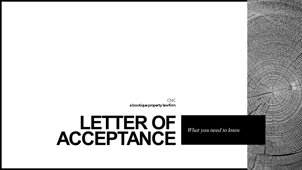Letter Of Acceptance What You Need To Know Boutique Property