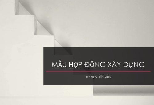 Mẫu Hợp Đồng Xây Dựng Việt Nam
