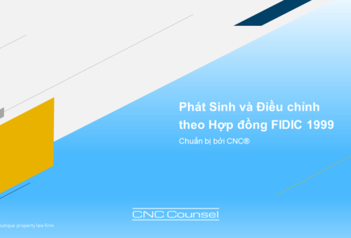 Webinar 3: Phát Sinh Và Điều Chỉnh Theo Hợp Đồng FIDIC 1999