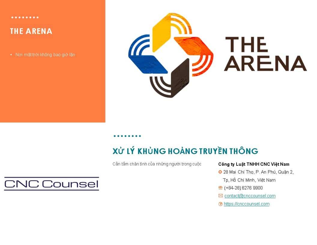 CNC Xu ly khung hoang truyen thong tai The Arena Cam Ranh