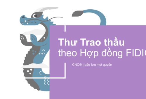 Thư Trao thầu theo Hợp đồng FIDIC